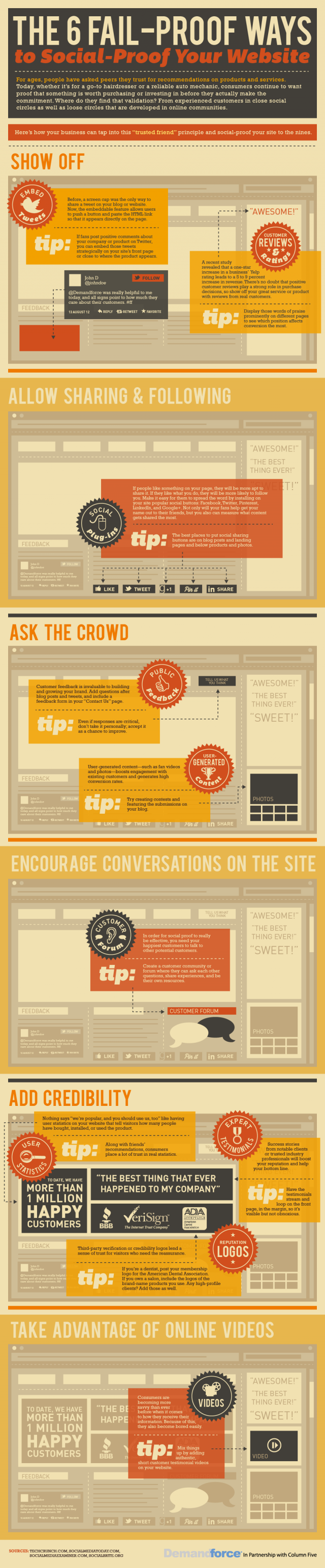 Infographic: building trust with social tools on your site