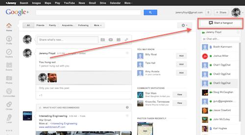 Start Google+ Hangout