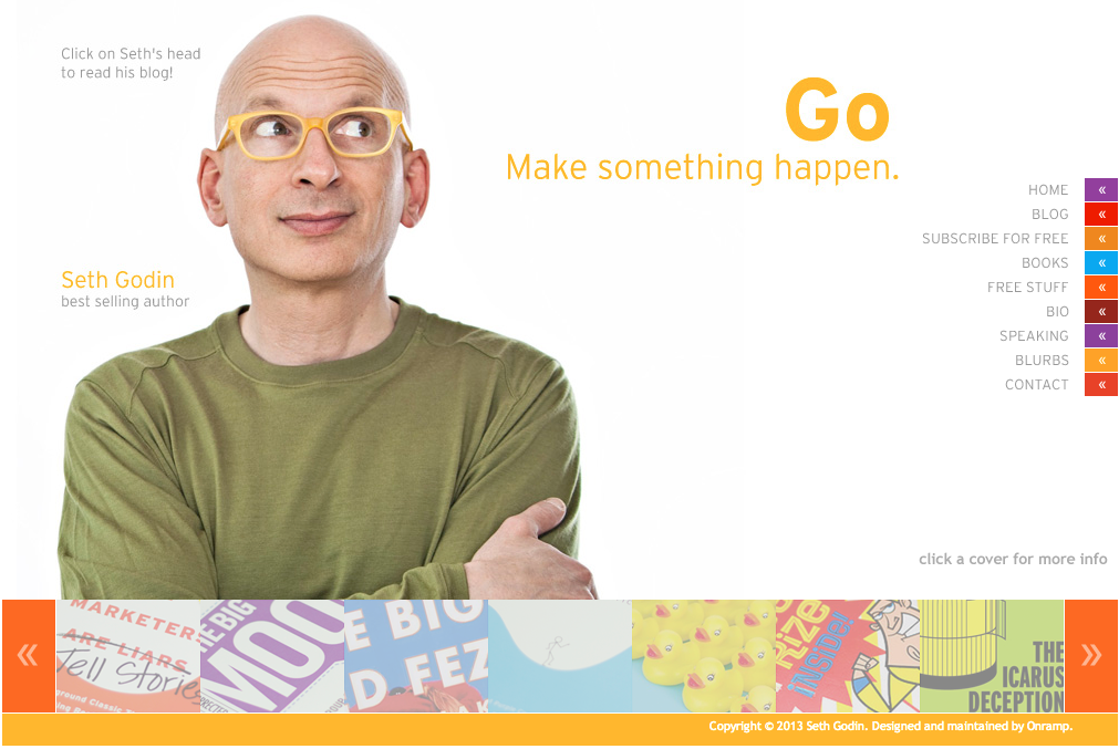 Screen Shot of SethGodin.com